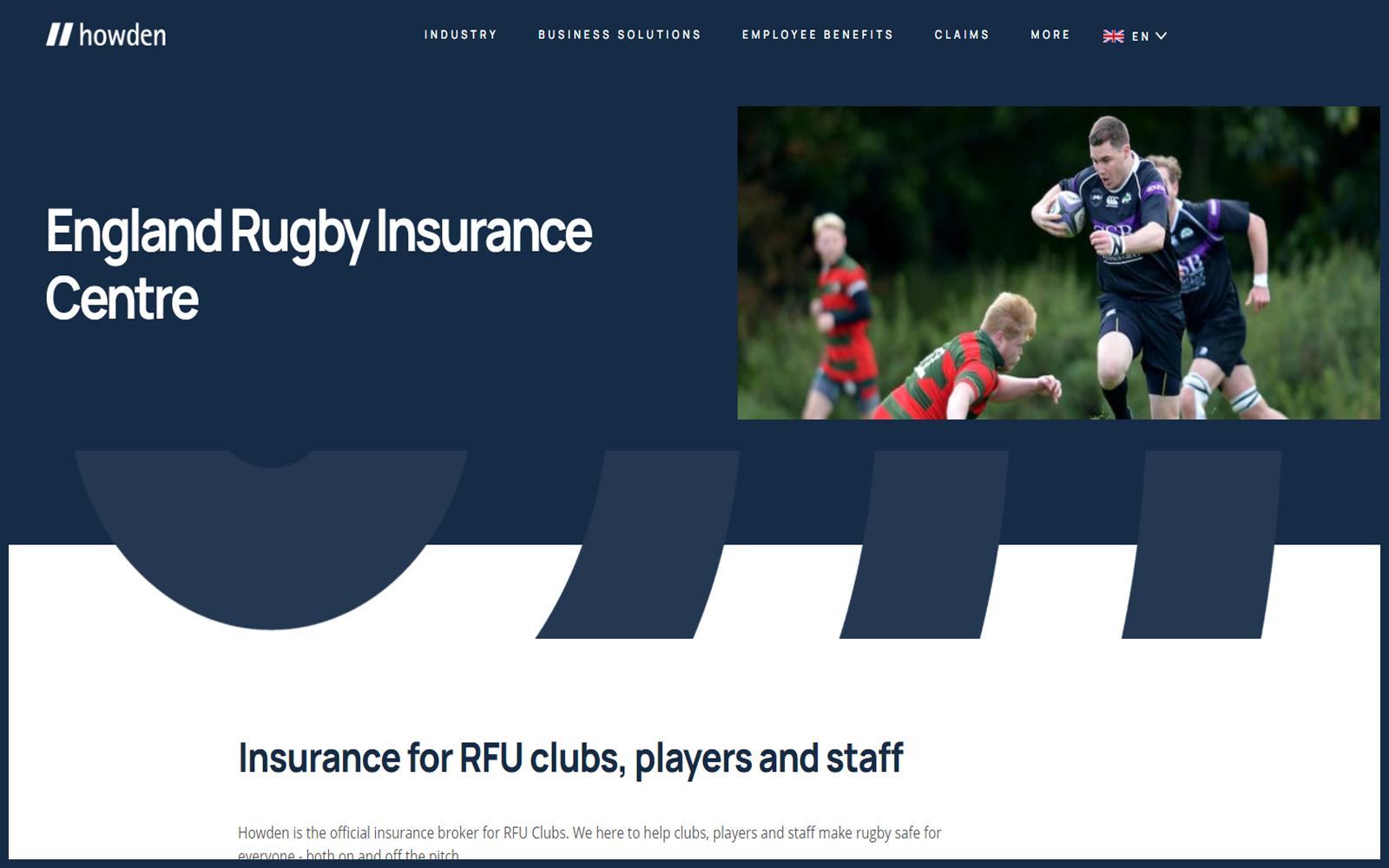 RFU Insurance Centre home page